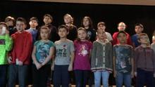 Remembrance Day song by Grade 5 students